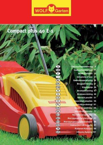 Compact plus 40 E-1 Compact plus 40 E-1 - WOLF-Garten