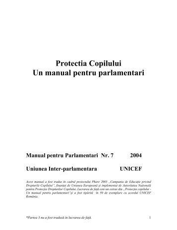 Un manual pentru parlamentari - Directia Protectia Copilului