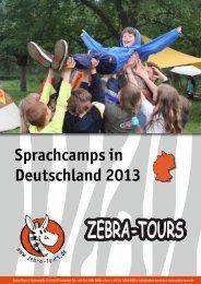 Sprachcamps in Deutschland 2013 - Katalog - Zebra-Tours