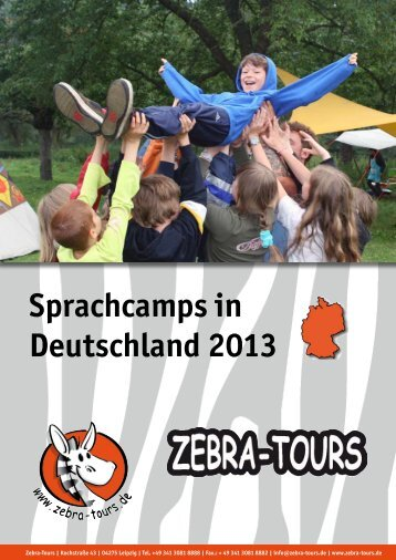 Sprachcamps in Deutschland 2013 - Katalog - Zebra-Tours