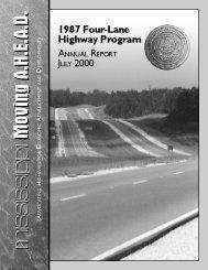 Ahead 2000 - Mississippi Department of Transportation