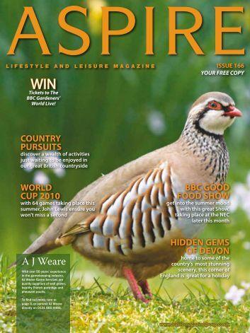 A J Weare - Aspire Magazine
