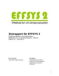 Slutrapport för EFFSYS 2