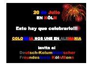 Invitación 20 de Julio - Deutsch-Kolumbianischer Freundeskreis eV