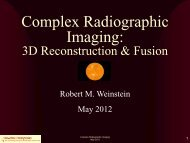 Complex Radiographic Imaging: 3D reconstruction, fusion