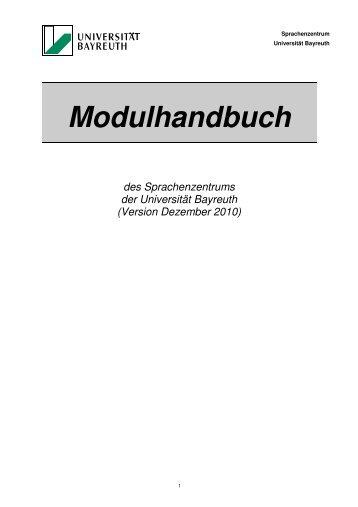 Modulhandbuch - Sprachenzentrum der Universität Bayreuth