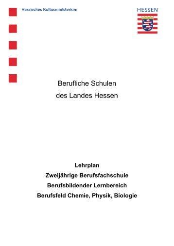 Berufsfeld Chemie, Physik, Biologie - Peter Behrens Schule