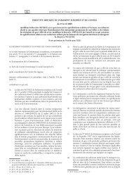 Directive 2009/30/CE du Parlement européen et du ... - EUR-Lex