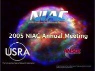 Dr. Robert Cassanova - NASA's Institute for Advanced Concepts