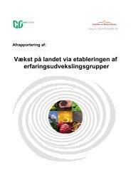 Afrapportering ERFA-grupper - Grønt Center