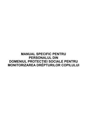 Manual Specific pentru Personalul din Domeniul Protectiei Sociale ...