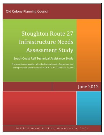Stoughton Infrastructure Needs Assessment Study - Old Colony ...