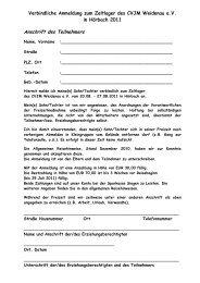 Anmeldung zum Zeltlager (PDF) - CVJM Weidenau