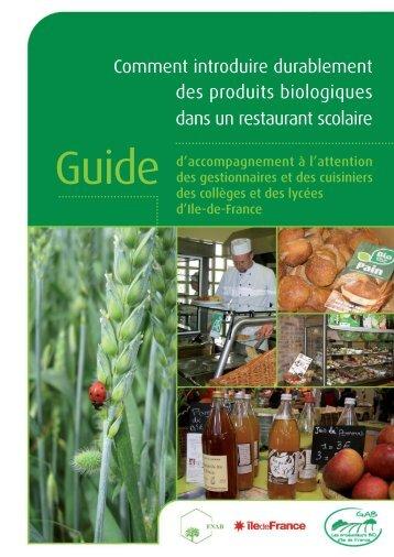 Comment introduire durablement des produits biologiques dans un ...