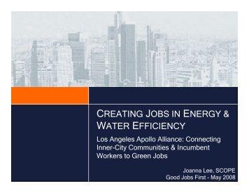 creating jobs in energy & water efficiency - Good Jobs First