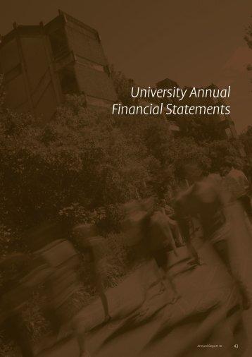 University Annual Financial Statements - University of Canterbury