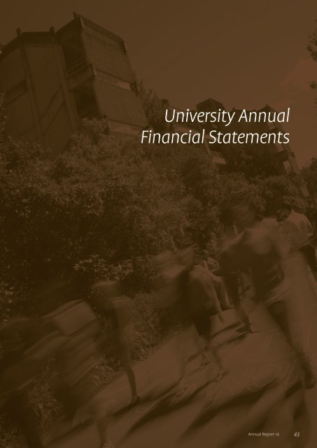 University Annual Financial Statements - University of Canterbury