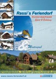 Folder zum Download - Rassi´s Feriendorf Donnersbachwald