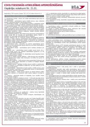 Civiltiesiskās atbildības apdrošināšanas vispārējie noteikumi ... - BTA