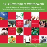 12. eGovernment-Wettbewerb - BearingPoint ToolBox