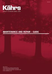 Maintenance and RepaiR – Guide - Kährs