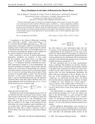 Glory Oscillations in the Index of Refraction for Matter Waves