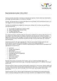 Resultatlønskontrakter 2011/2012 - Tradium