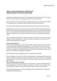 Aarhus Vands vejledning for etablering af spildevandsstik til ...