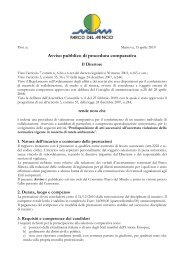 Avviso pubblico di procedura comparativa - Parco del Mincio