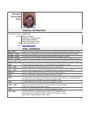 Europass Curriculum Vitae - Department of Political Science and ...