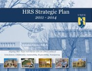 HRS Strategic Plan - The University of North Carolina at Greensboro