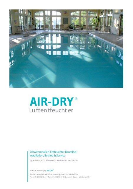 Betriebsanleitung i_korr - AIR-DRY Luftentfeuchter