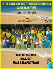 international youth soccer challenge caribbean tour - Sacred Sport ...