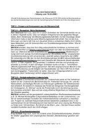 Protokoll vom 18.Februar.2009 - Nußloch