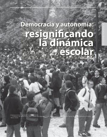 resignificando la dinámica escolar - Revista Docencia