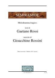 SEMIRAMIDE Gaetano Rossi Gioacchino Rossini - Fulmini e Saette