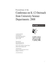Conference on K-12 Outreach from University Science Departments ...