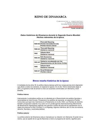 Datos históricos de Dinamarca durante la - México Diplomático