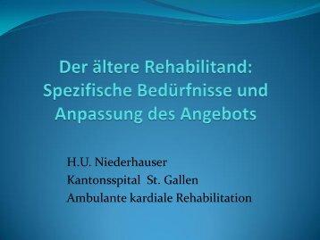 Der ältere Rehabilitand - Kantonsspital St. Gallen