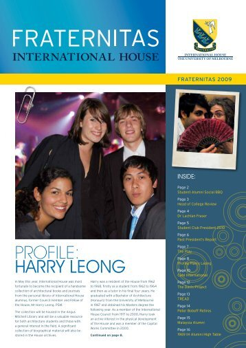 profile: harry leong - International House - University of Melbourne