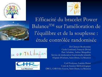 Efficacité du bracelet Power BalanceTM sur l'amélioration ... - Sofmer