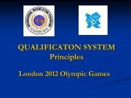 London 2012 Olympic Games Qualification System