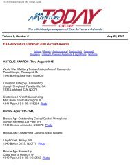 EAA AirVenture Oshkosh 2007 Aircraft Awards
