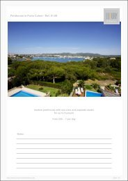 Penthouse in Porto Colom - Luxury Holidayhomes on Mallorca