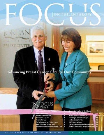 Philanthropy Focus Fall 2009 - Jordan Hospital