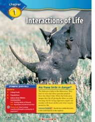E: Chapter 1: Interactions of Life - McGraw-Hill Higher Education