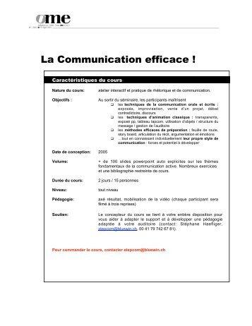 La Communication efficace ! - Stéphane Haefliger Sociologue