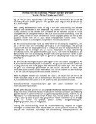Verslag van de studiedag 'Klassen zonder grenzen' Studio Globo 29 ...