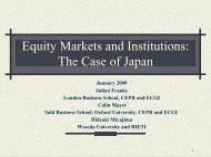 Evolution of Ownership: The Curious Case of Japan - Centre for ...