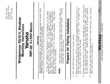 1981-2 Yamaha XJ 550 Maxim Windjammer/ Vindicator - Craig Vetter